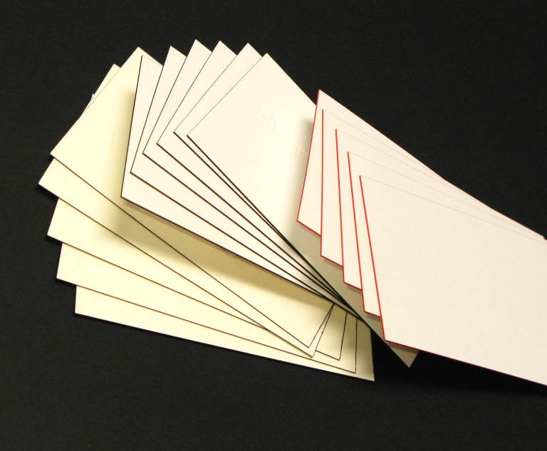 Offset Printing Business Cards with Edge Painting » Pressman ...